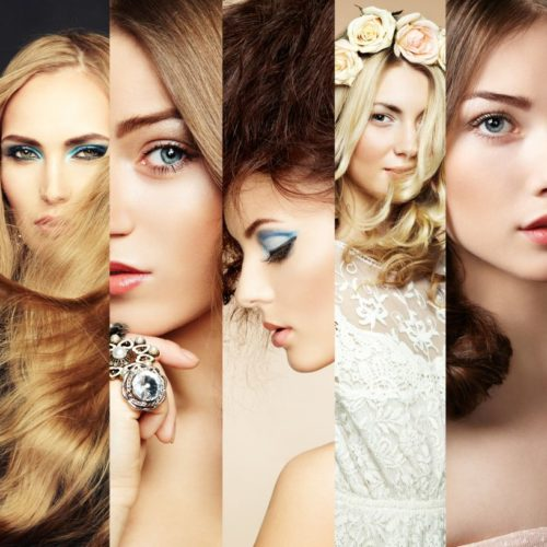 Faces of women. Fashion photo